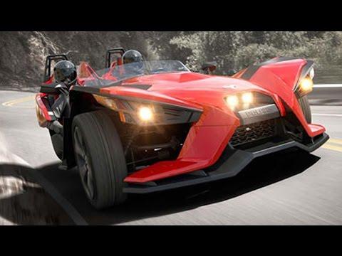 Polaris Slingshot 3 Wheel Roadster Looks Like An Automobile !