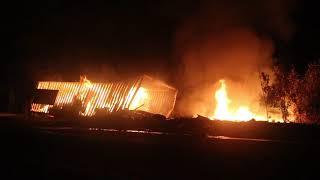 Пожар на трассе Одесса-Киев