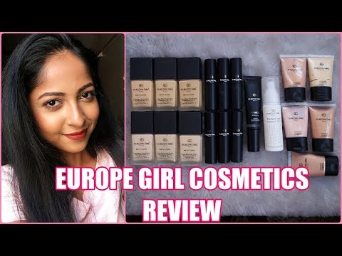 EUROPE GIRL COSMETICS REVIEW | Foundation, Concealers, Illuminators & More | Stacey Castanha