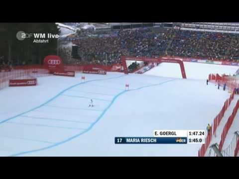 Maria Riesch Abfahrt WM 2011 Garmisch-Partenkirchen