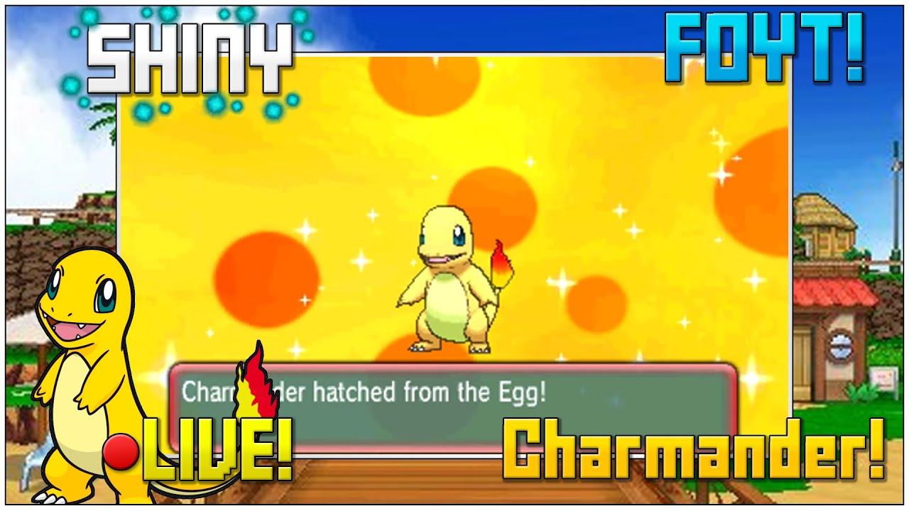 foyt live shiny charmander in pokemon oras after only 69 eggs