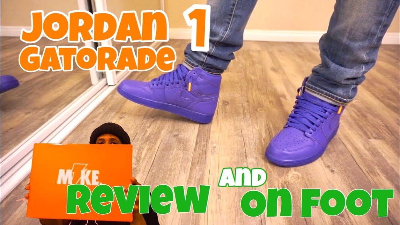 Jordan 1 Gatorade Purple Review + On