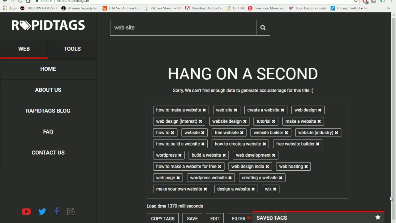 tag generator designed to easily generate SEO effective tags for your  YouTube videos
