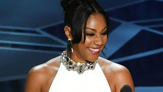 Tiffany Haddish Wears Her White Alexander McQueen Gown for the Third Time to 2018 Oscars