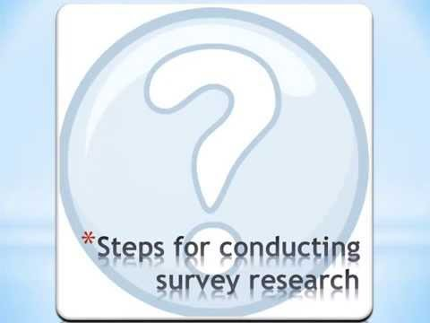 Survey research video