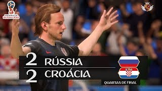 RUSSIA 2-2 CROATIA IN FIFA 18!! (WITH PENALTIES AND BRAZILIAN COMMENTARIES) - FIFA 18 WORLD CUP
