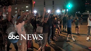 Protests after Officer Betty Shelby was found not guilty of manslaughter