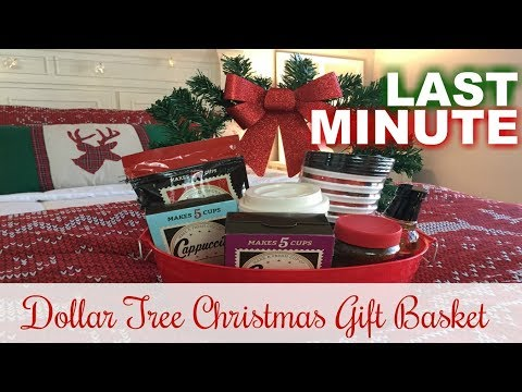 DOLLAR TREE CHRISTMAS GIFT BASKETS | Last Minute Gift Ideas | 2017