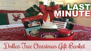 DOLLAR TREE CHRISTMAS GIFT BASKETS | Last Minute Gift Ideas | 2017