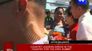 Country leaders arrive in the country for the APEC Summit