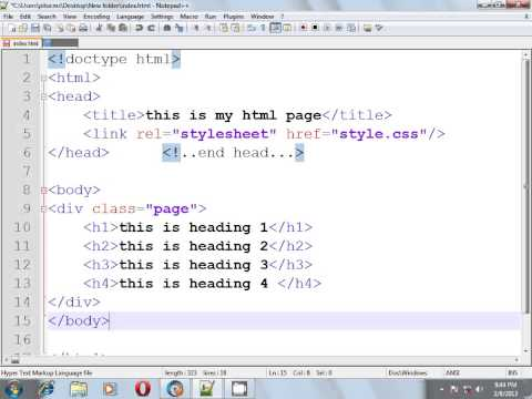 HTML & CSS BANGLA TUTORIAL PART-2(DIV And CLASS SELECTOR)
