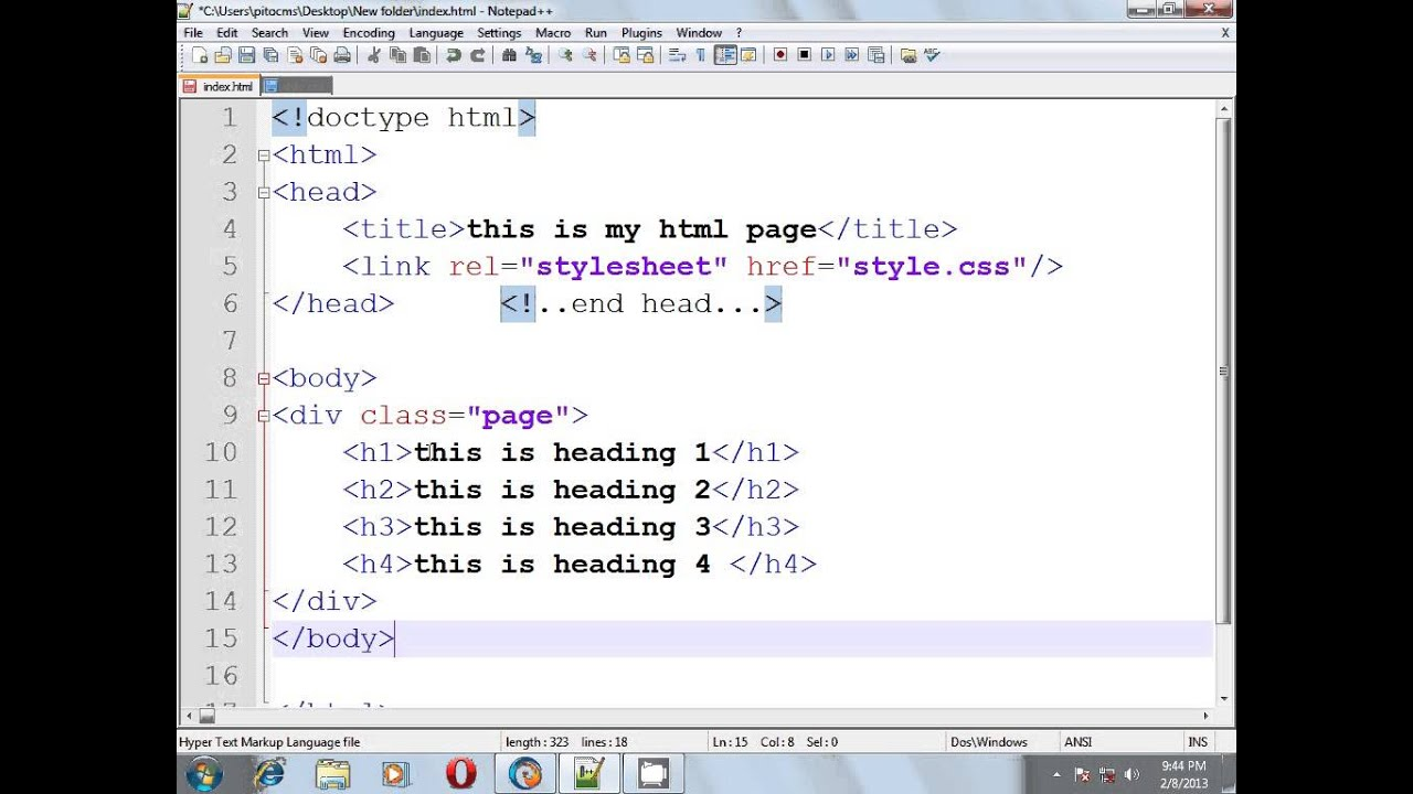 Html css bangla tutorial part 2 div and class selector for Html div
