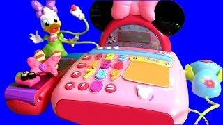 Caixa Registradora da Minnie e Margarida do desenho A Loja de Laços da Minnie Bow-Tique TOYSBR