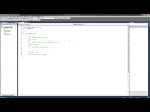 C# LinkedList Tutorial - 2 - Implement the Node