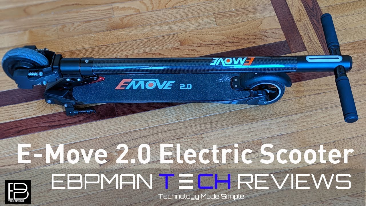 E Move 2 0 Carbon Fiber Electric Scooter Review
