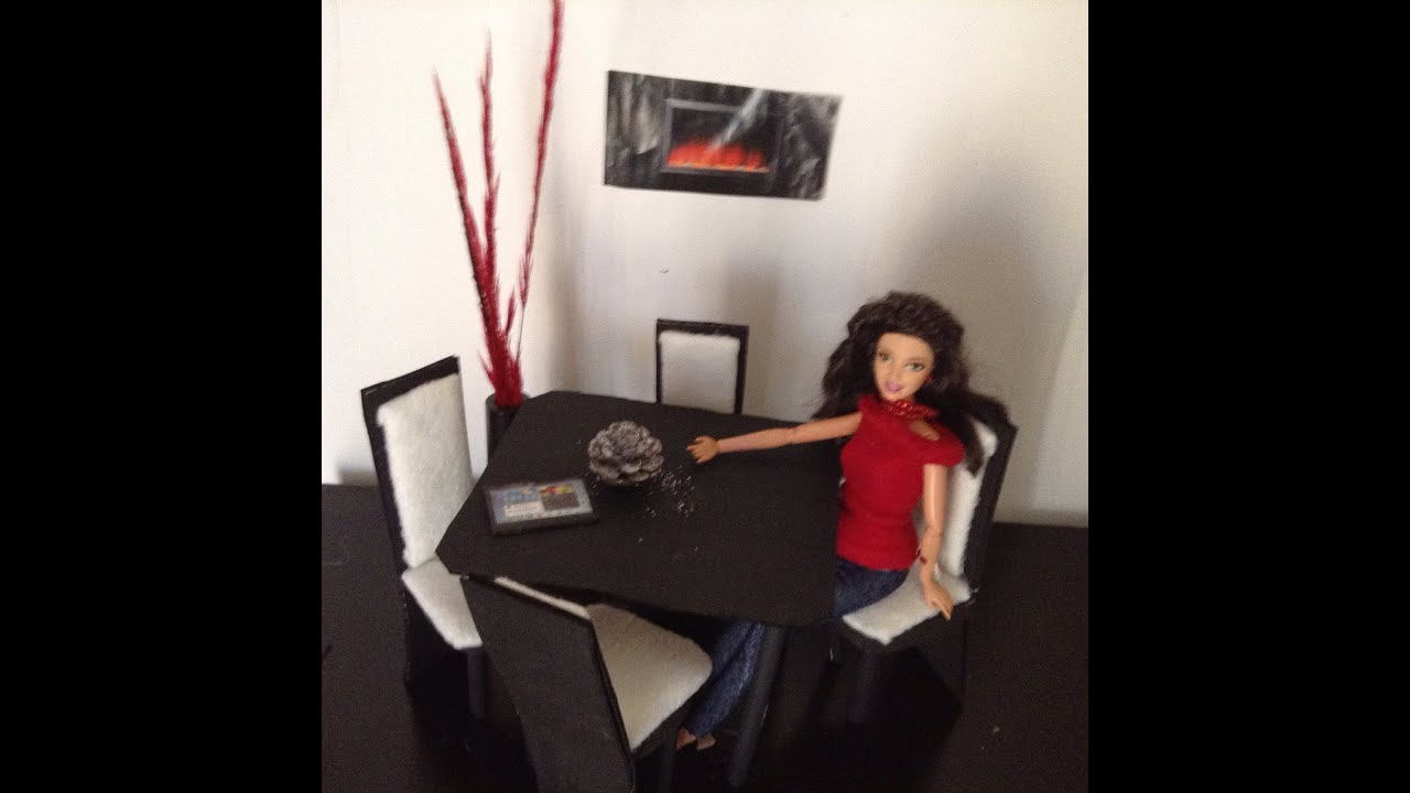 Comedor parte 1 para mu ecas barbie y monster high youtube for Muebles para barbie