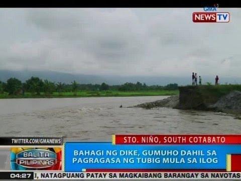 BP: Bahagi ng dike sa South Cotabato, gumuho dahil sa pagragasa ng tubig mula sa ilog