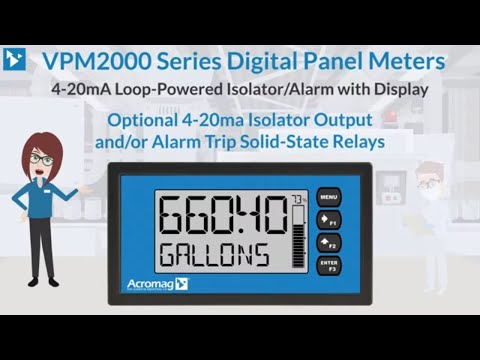 Acromag VPM2000 Series Loop-powered Isolator/Alarm with Display