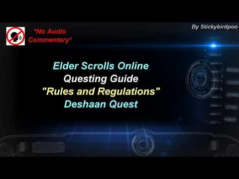Rules and Regulations - Deshaan Quest - Elder Scrolls Online |