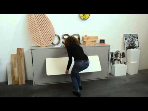 lit et bureau escamotable guizzo nantes youtube. Black Bedroom Furniture Sets. Home Design Ideas