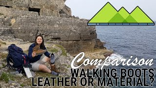 Choosing Leather or Material Walking Boots - Meindl Bhutan / Merrell Moab 2