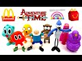 2016 McDONALD'S CARTOON NETWORK ADVENTURE TIME GUMBALL HAPPY MEAL TOYS KIDS SET 8 COLLECTION REVIEW