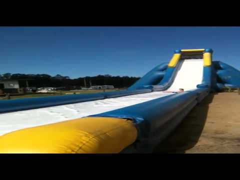 fun stuffgiant blow up water slide - Blow Up Water Slides