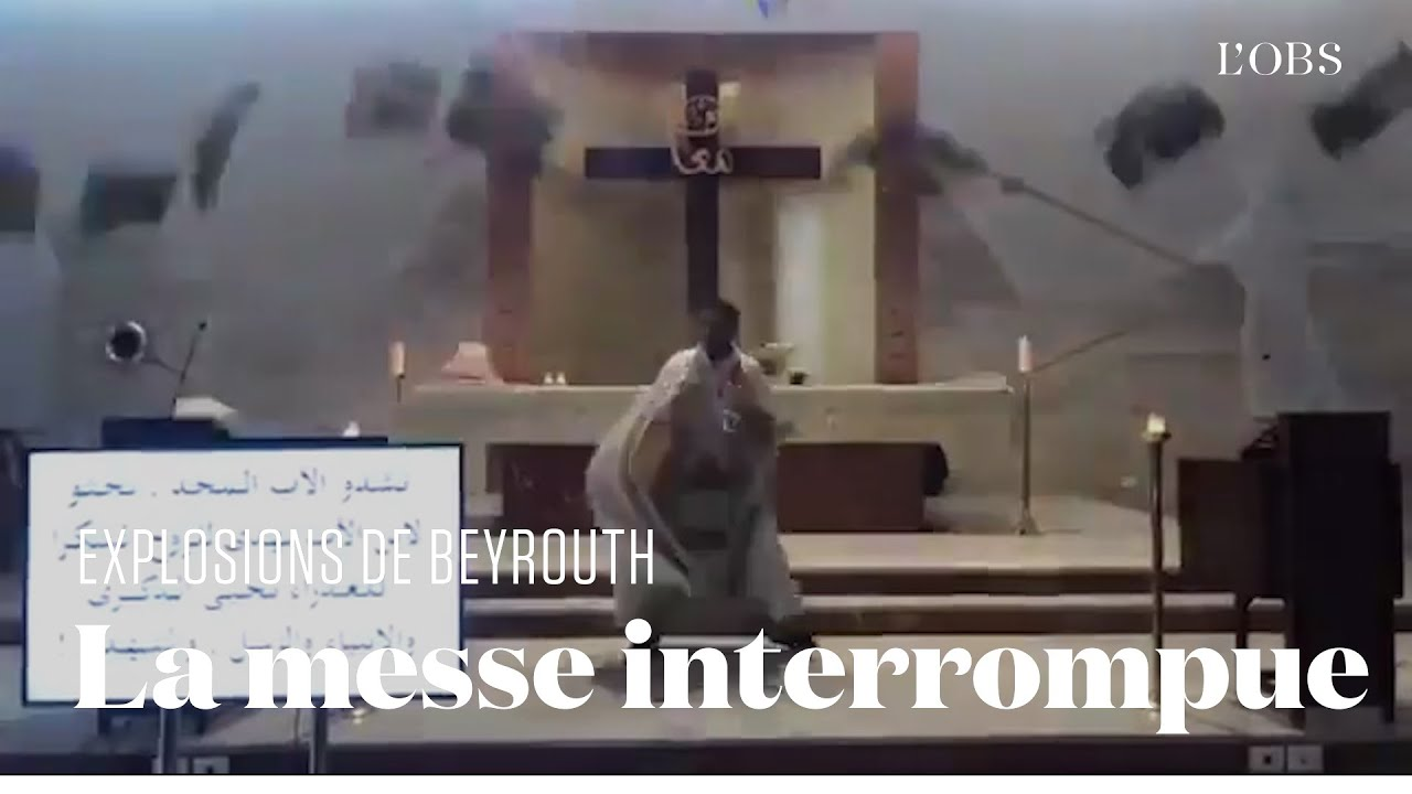 A Beyrouth, ce prêtre célébrait la messe quand les explosions ont tout interrompu