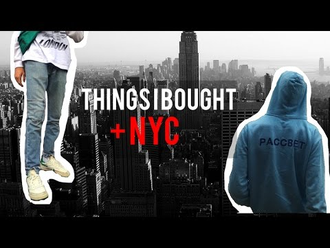 THINGS IVE BEEN BUYING + NYC ( PaccBet, Palace )