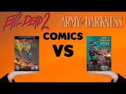 Evil Dead Comics vs Army of Darkness Comics (Graphic Novel Guides)