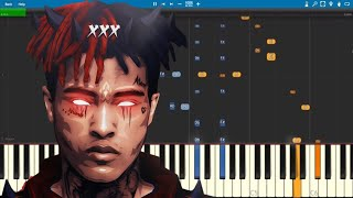 XXXTENTACION - whoa (mind in awe) - Piano Tutorial