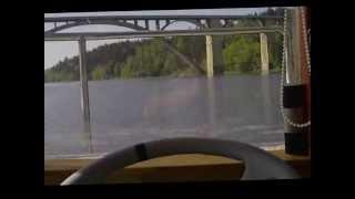 Hausbot - první plavba na Orlíku - květen 2013