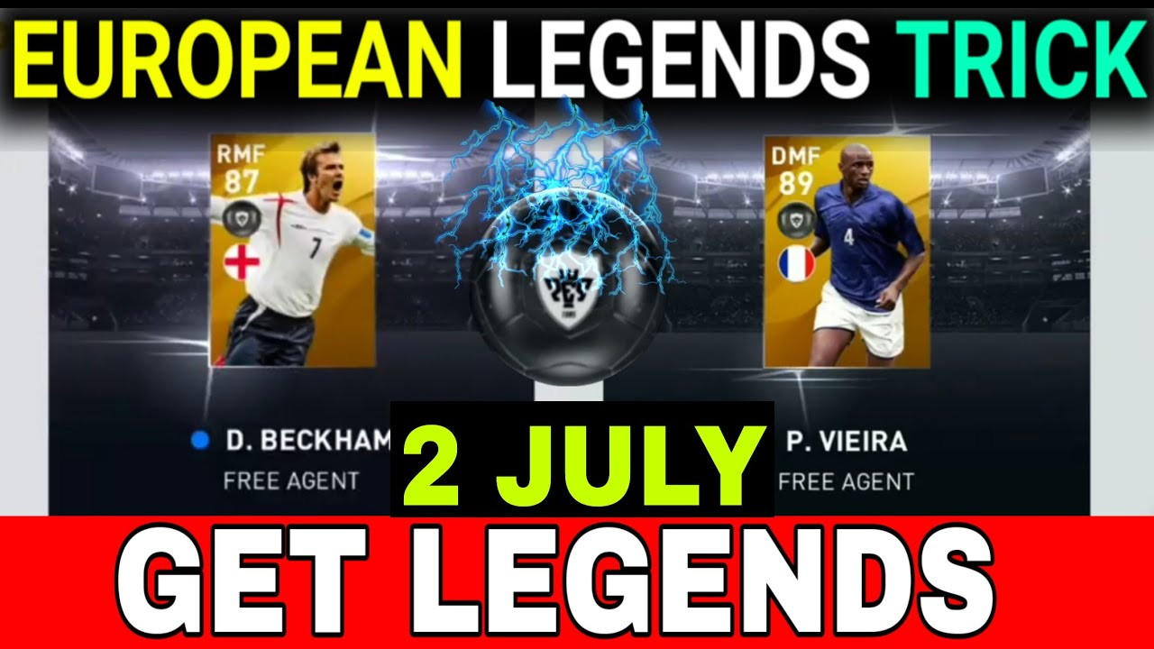 How to Get BECKHAM, VIEIRA & KAHN in PES 2020 | LEGENDS BLACK BALL TRICK IN EUROPEAN NATIONAL TE