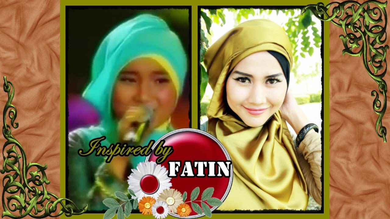 Modern Hijab Tutorial Satin Square Inspired By Fatin Shidqia