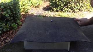 Andek Rubberkote 1047 test video. The true miracle in a can for all of your roof leak repa ...
