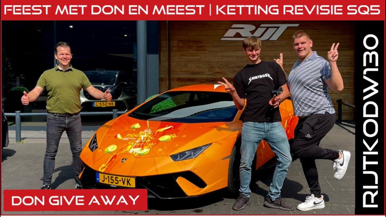 Don de Jong en Mees Dix blijven slapen | Lamborghini Huracan Performante | Airbag knalt eruit!
