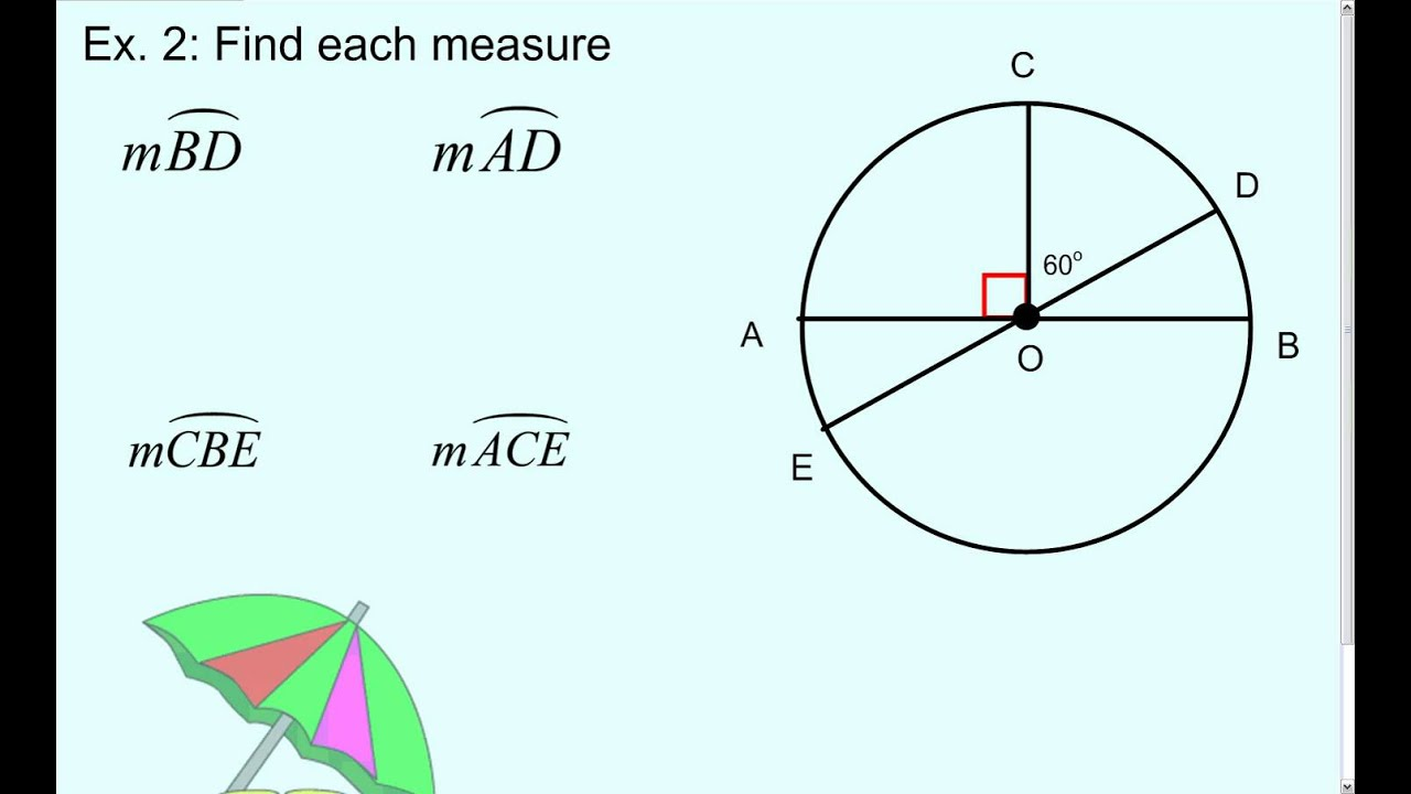 10-2: Measuring Angles and Arcs - YouTube