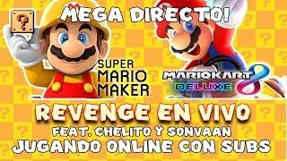 MEGA DIRECTO! MARIO KART 8 DELUXE Y SUPER MARIO MAKER CON SUSCRIPTORES