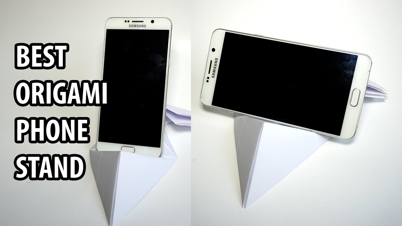 easy strong phone stand from a4 paper tutorial diy henry phẠm