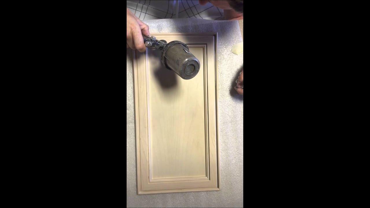 Pinstripe Glazing Cabinet Door Youtube