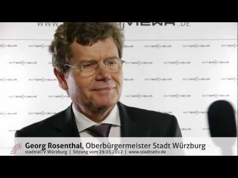 Georg Rosenthal zur Straßenbahnplanung im Umfeld der Würzburger Residenz