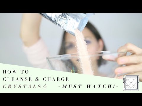 How to Cleanse & Charge Your Crystals (the most important crystal video you will ever watch!) ♢