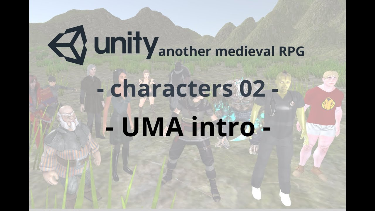 Unity 5 tutorial: characters 02 uma intro 01 youtube.