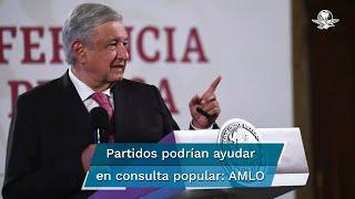 El Presidente Andrés Manuel López Obrador sugirió que los ciudadanos y los partidos ayuden a la organización de ese ejercicio democrático