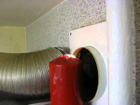 Вытяжная вентилляция водонагревательной колонки.