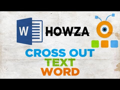 How To Cross Out Text In Word | How To Strikethrough Text In Word 2016