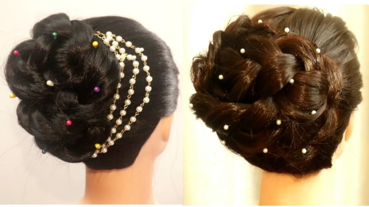 Bun Hairstyle For Party Step By Step | Wedding Hairstyle | Updo Hairstyle | Easy Hairstyles