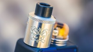 F***ing Awesome! The Dead Rabbit SQ 22mm Squonk RDA by Heathen and Hellvape -