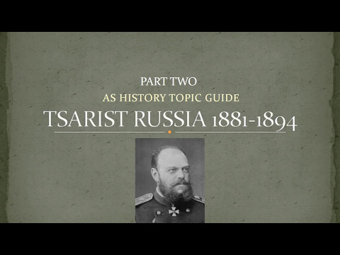 AS Tsarist Russia Revision Part 2 - 1881- 1894 Alexander III