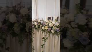 Bridal table flowers runner @ The Manor on High